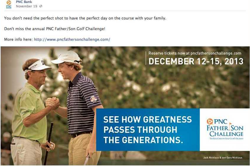 PNC Bank Father-Son Challenge Facebook Promotion