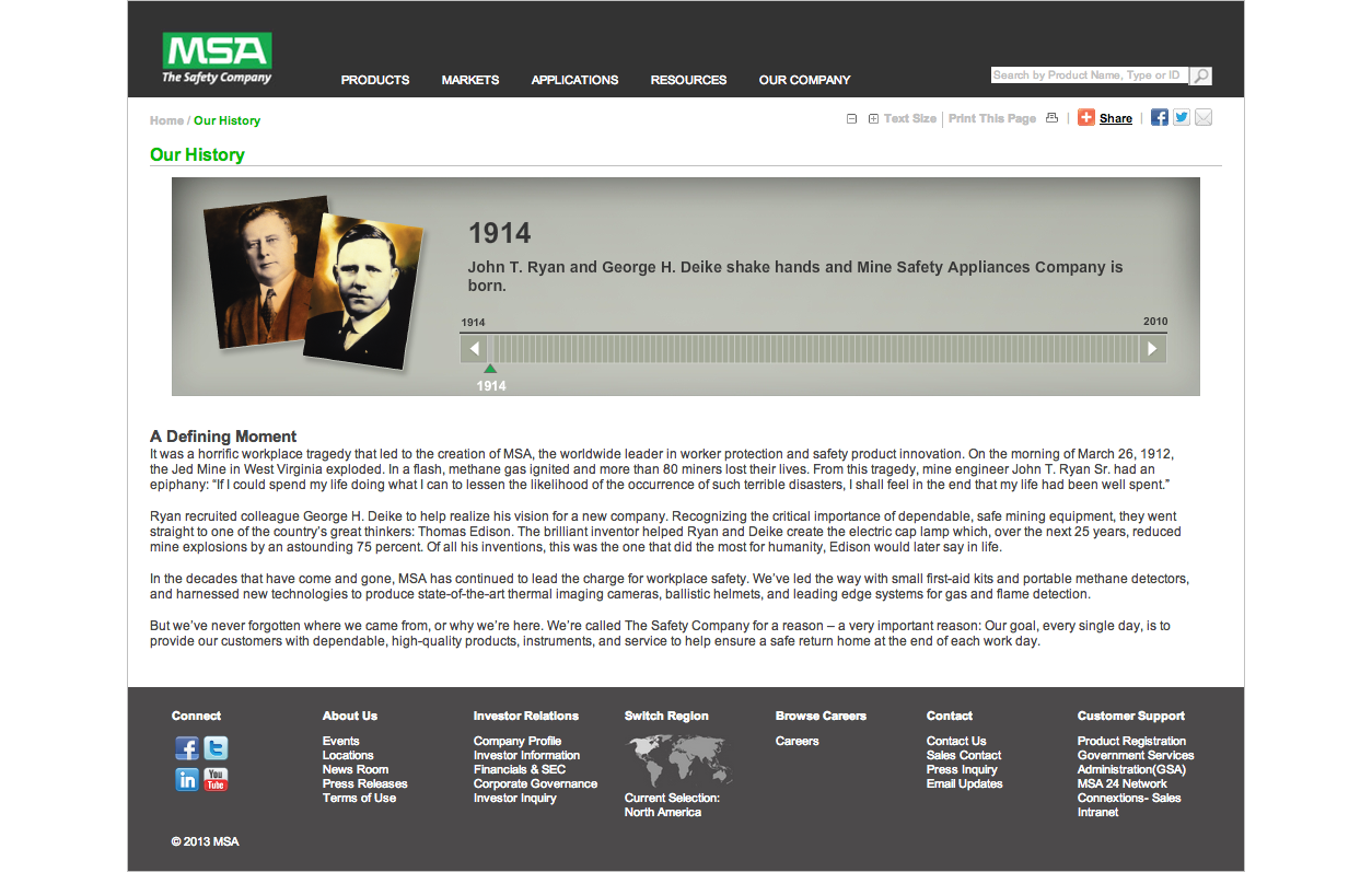 MSA Company History