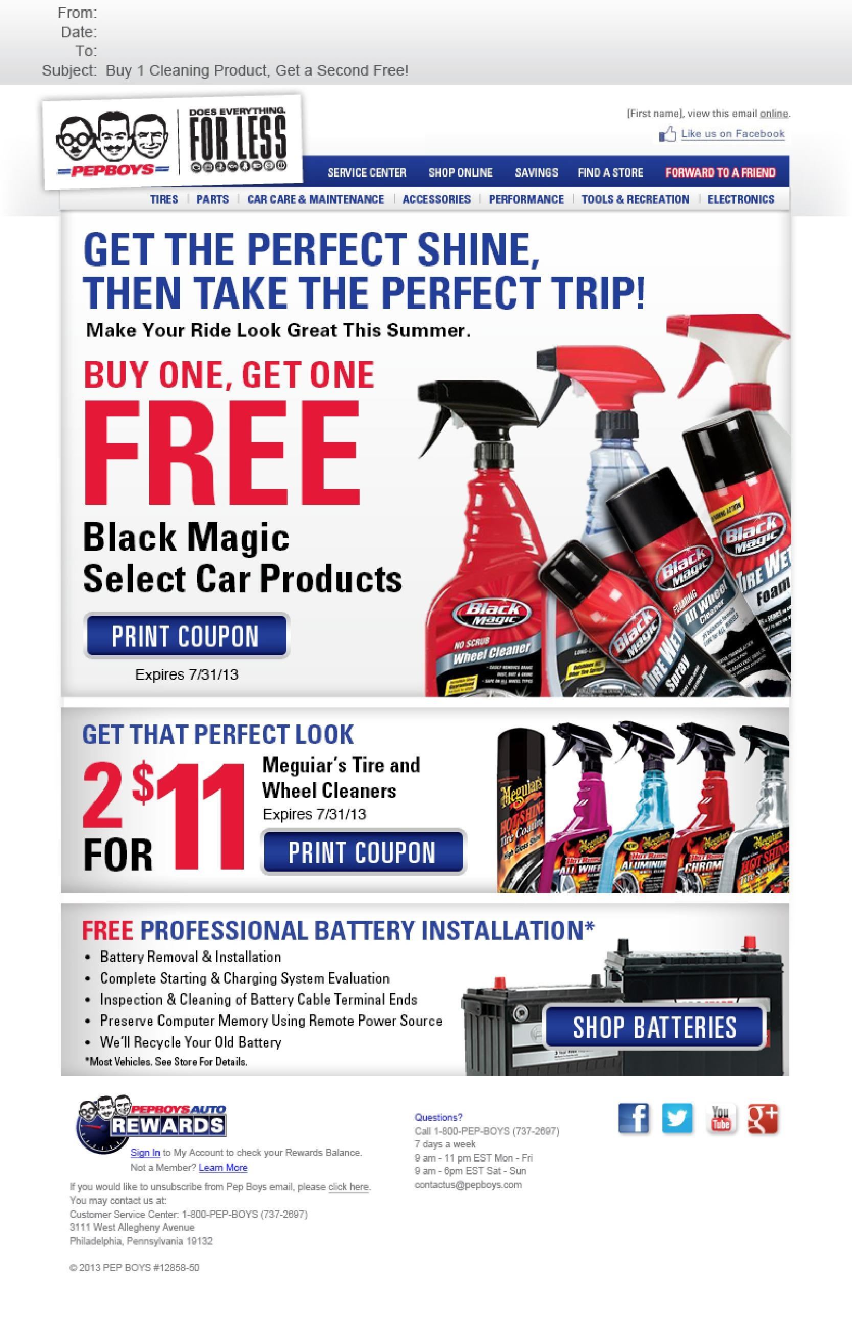 Pep Boys Email