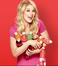Fruitwater spokesperson Christina Applegate